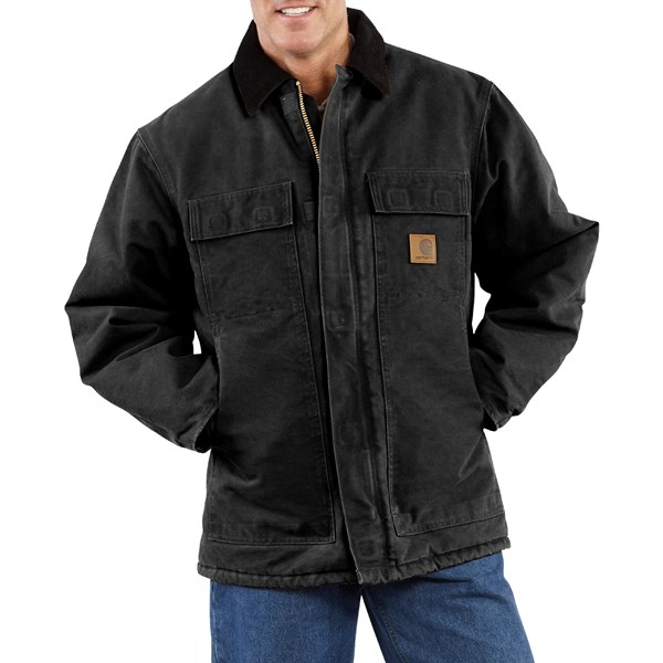 Imbracaminte Barbati Carhartt Arctic Work Coat (For Tall Men) BLACK (27)
