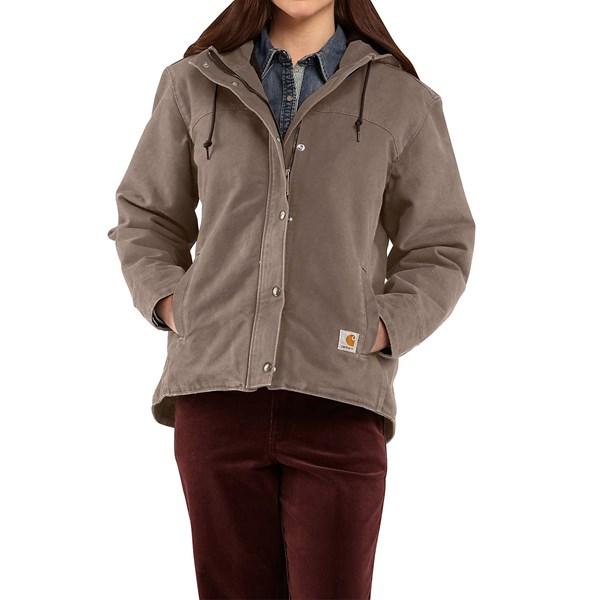Imbracaminte Femei Carhartt Sandstone Berkley Jacket - Sherpa-Lined TAUPE GREY (07)