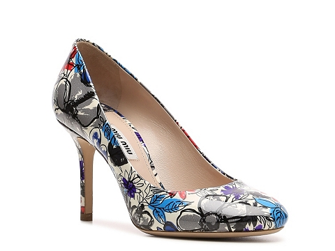 Incaltaminte Femei Miu Miu Floral Printed Patent Leather Pump Multi Floral