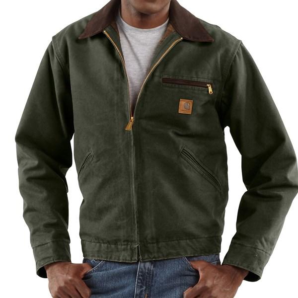 Imbracaminte Barbati Carhartt Sandstone Detroit Jacket - Blanket Lining (For Big Men) MOSS (11)