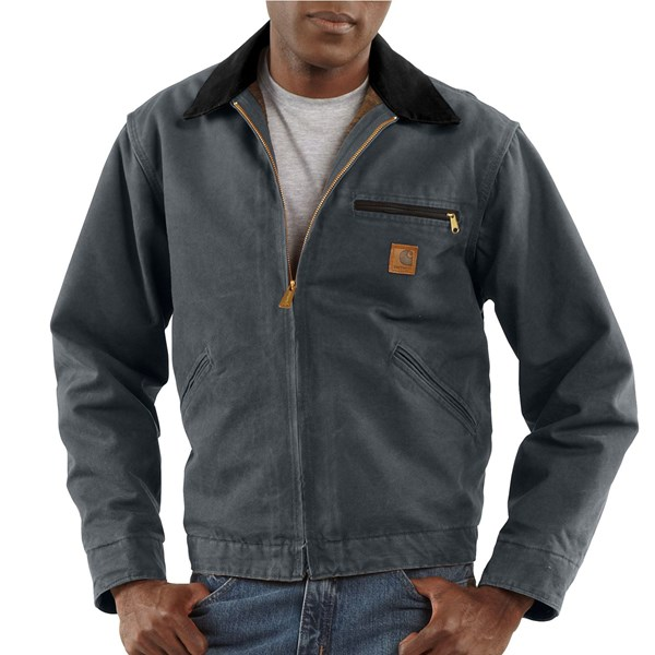 Imbracaminte Barbati Carhartt Sandstone Detroit Jacket - Blanket Lining (For Big Men) GRAVEL (07)