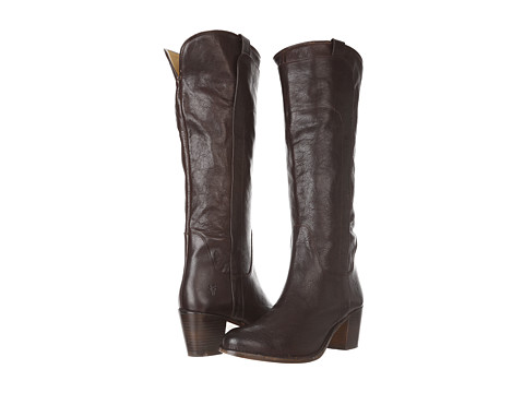Incaltaminte Femei Frye Jackie Tall Riding Dark Brown Calf Shine