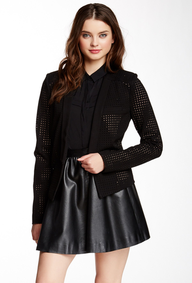 Imbracaminte Femei Tart Lela Perforated Jacket BLACK PERFORATED PONTE