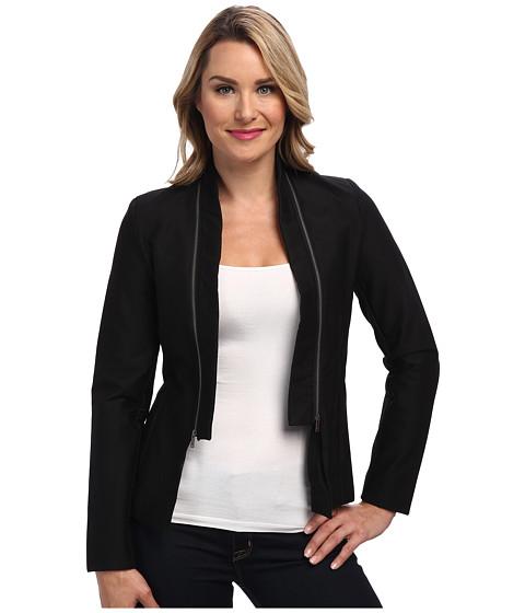 Imbracaminte Femei Calvin Klein Double Texture Zip Collar Jacket Black