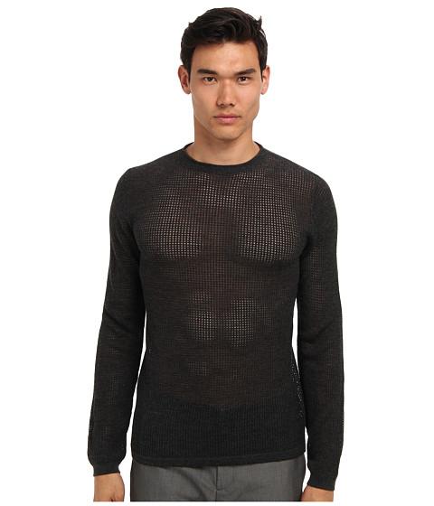 Imbracaminte Barbati Marc Jacobs Mesh Crewneck Sweater Charcoal