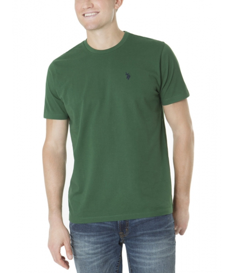 Imbracaminte Barbati US Polo Assn Solid Crew Neck Tee ESSEX GREEN