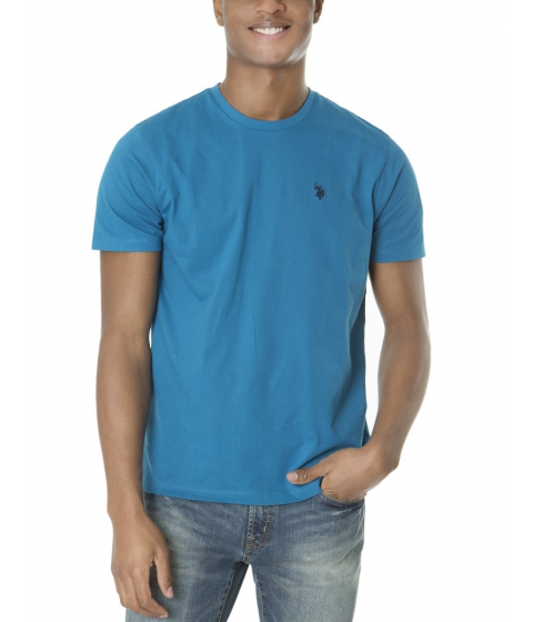 Imbracaminte Barbati US Polo Assn Solid Crew Neck Tee DELANCEY BLUE