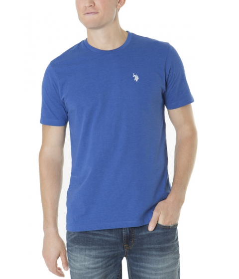 Imbracaminte Barbati US Polo Assn Solid Crew Neck Tee ROYAL BLUE HEATHER