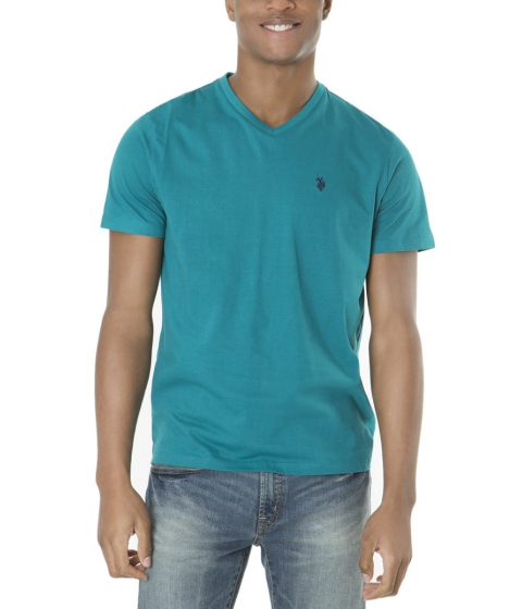 Imbracaminte Barbati US Polo Assn Solid V Neck Tee TEAL NIGHT