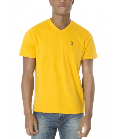 Imbracaminte Barbati US Polo Assn Solid V Neck Tee WILD SUNFLOWER
