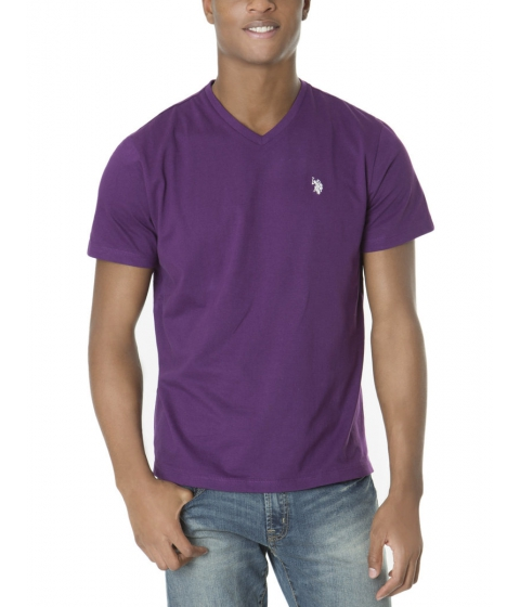 Imbracaminte Barbati US Polo Assn Solid V Neck Tee PURPLE GARDEN