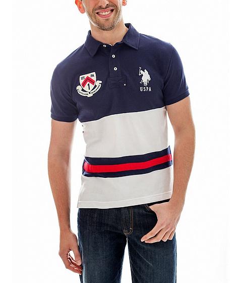 Imbracaminte Barbati US Polo Assn Slim Fit Color Block Polo Shirt Classic Navy
