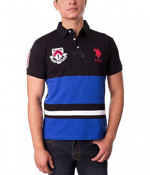Imbracaminte Barbati US Polo Assn Slim Fit Color Block Polo Shirt Cobalt Blue