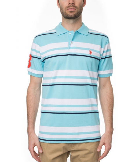 Imbracaminte Barbati US Polo Assn Stripe Polo Shirt Horizon Blue