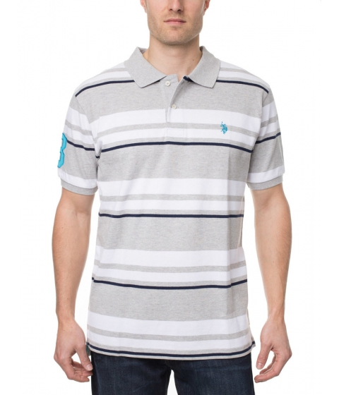 Imbracaminte Barbati US Polo Assn Stripe Polo Shirt Heather Light gray