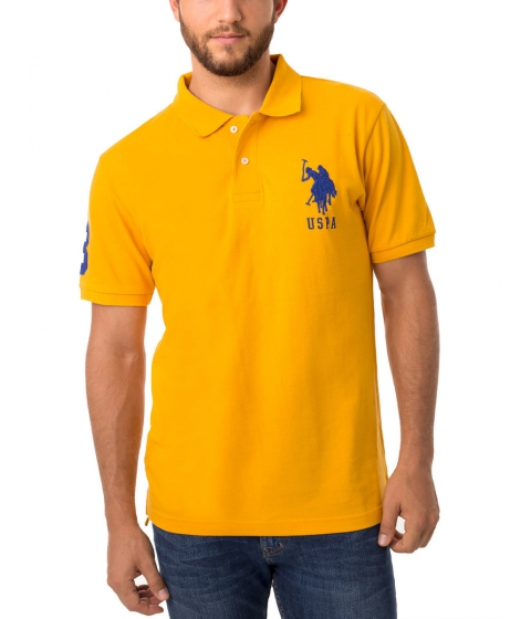 Imbracaminte Barbati US Polo Assn Pique Mesh Big Logo Polo Shirt Marigold Yellow