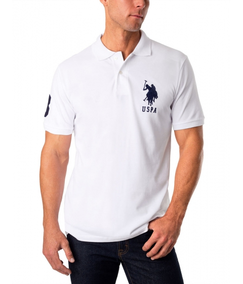 Imbracaminte Barbati US Polo Assn Pique Mesh Big Logo Polo Shirt White