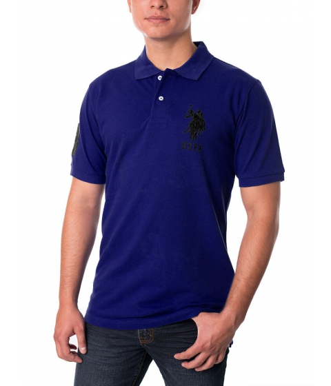Imbracaminte Barbati US Polo Assn Pique Mesh Big Logo Polo Shirt DARK VIOLET