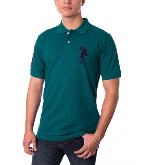 Imbracaminte Barbati US Polo Assn Pique Mesh Big Logo Polo Shirt Nocturne Teal