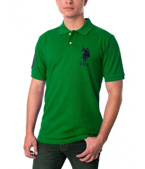 Imbracaminte Barbati US Polo Assn Pique Mesh Big Logo Polo Shirt Hiking Green