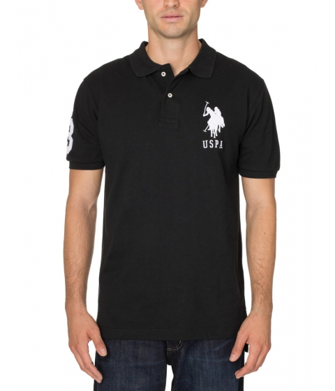 Imbracaminte Barbati US Polo Assn Pique Mesh Big Logo Polo Shirt Black
