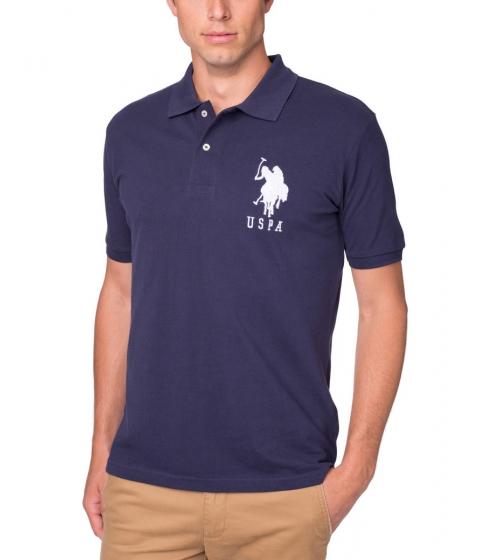 Imbracaminte Barbati US Polo Assn Pique Mesh Big Logo Polo Shirt Navy White