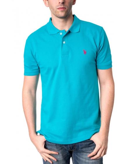 Imbracaminte Barbati US Polo Assn Pique Mesh Small Logo Polo Shirt Peacock Blue