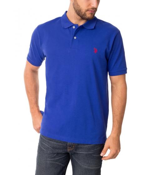 Imbracaminte Barbati US Polo Assn Pique Mesh Small Logo Polo Shirt COBALTBLUEPINKCLASH