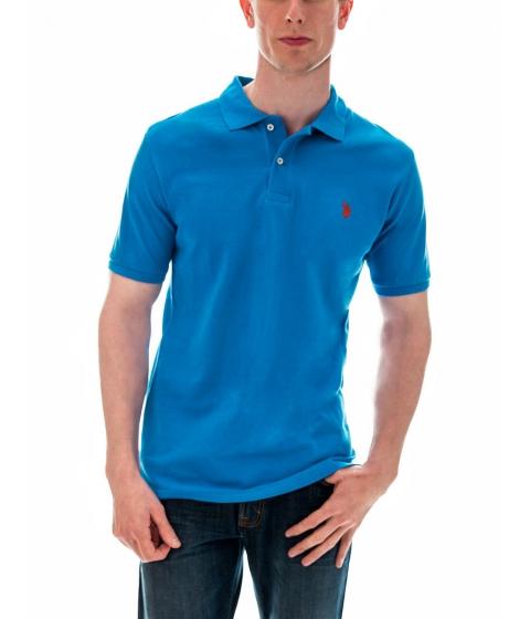 Imbracaminte Barbati US Polo Assn Pique Mesh Small Logo Polo Shirt TEAL BLUEHARVEST ORANGE