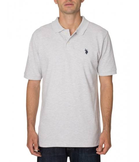 Imbracaminte Barbati US Polo Assn Pique Mesh Small Logo Polo Shirt Heather Light gray