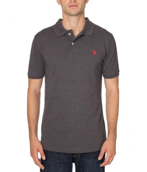Imbracaminte Barbati US Polo Assn Pique Mesh Small Logo Polo Shirt Heather Dark Gray