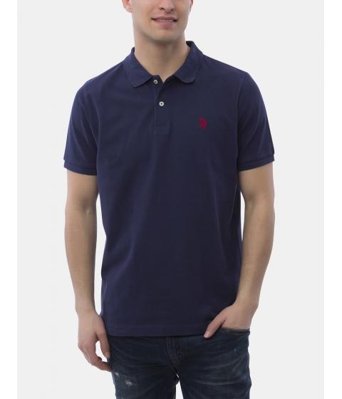 Imbracaminte Barbati US Polo Assn Pique Mesh Small Logo Polo Shirt Classic Navy