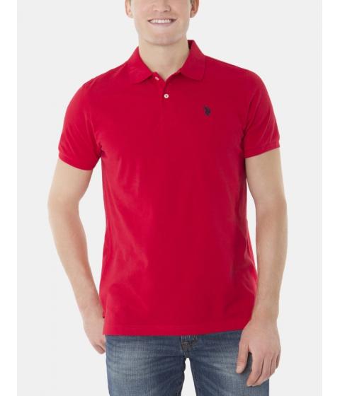 Imbracaminte Barbati US Polo Assn Pique Mesh Small Logo Polo Shirt Engine Red