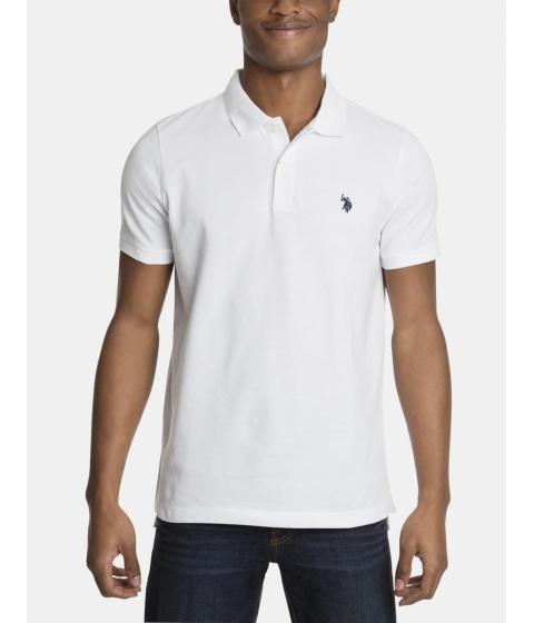 Imbracaminte Barbati US Polo Assn Pique Mesh Small Logo Polo Shirt White