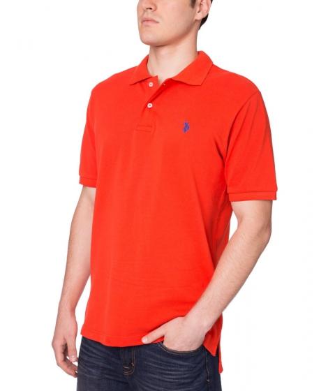 Imbracaminte Barbati US Polo Assn Pique Mesh Small Logo Polo Shirt Harvest Orange