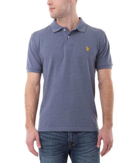 Imbracaminte Barbati US Polo Assn Pique Mesh Small Logo Polo Shirt Cadet Blue Heather
