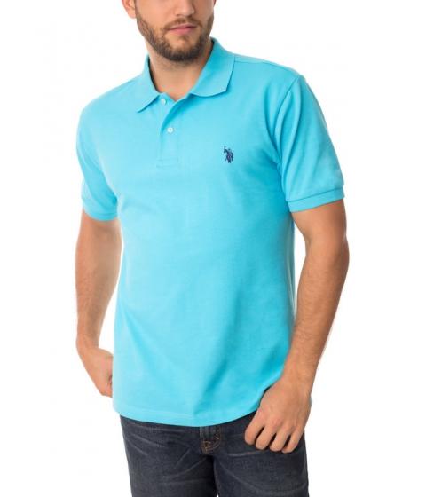 Imbracaminte Barbati US Polo Assn Pique Mesh Small Logo Polo Shirt BLUE SEA