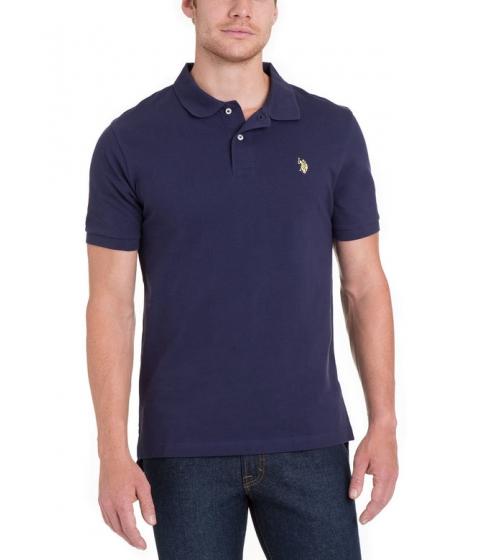 Imbracaminte Barbati US Polo Assn Pique Mesh Small Logo Polo Shirt CLASSIC NAVY LEMON FROST