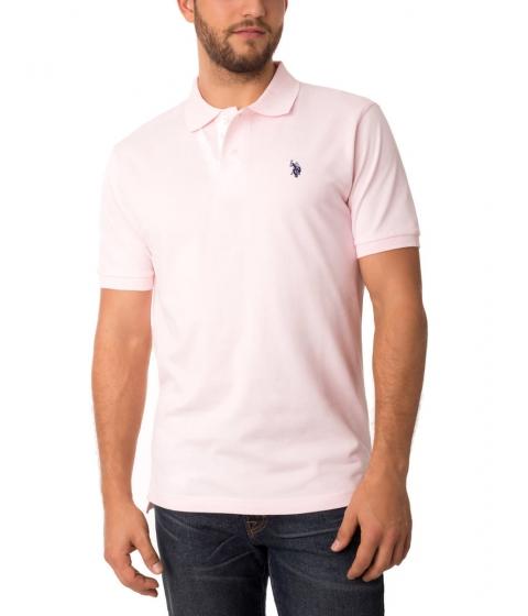 Imbracaminte Barbati US Polo Assn Pique Mesh Small Logo Polo Shirt COSTALPINKDODGERBLU