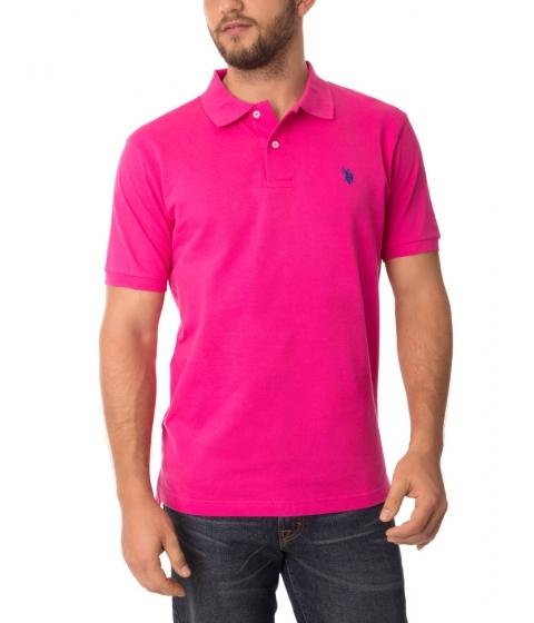 Imbracaminte Barbati US Polo Assn Pique Mesh Small Logo Polo Shirt PINK PARADISE