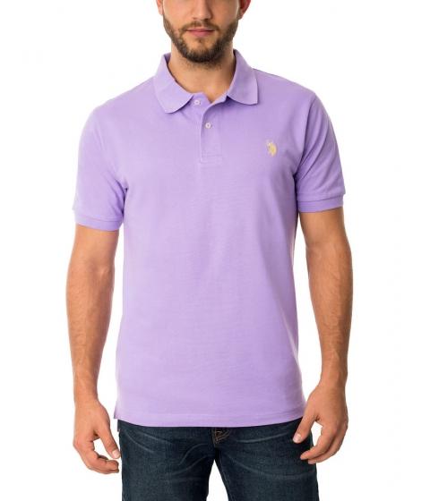 Imbracaminte Barbati US Polo Assn Pique Mesh Small Logo Polo Shirt LILAC SUMMER