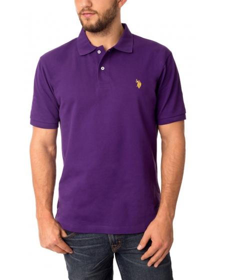 Imbracaminte Barbati US Polo Assn Pique Mesh Small Logo Polo Shirt Majesty Purple