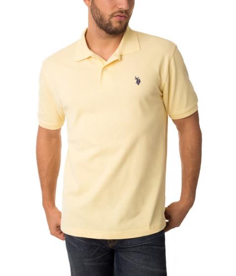 Imbracaminte Barbati US Polo Assn Pique Mesh Small Logo Polo Shirt LEMONFROSTDODGRBLUE