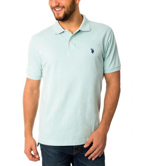 Imbracaminte Barbati US Polo Assn Pique Mesh Small Logo Polo Shirt MINTHEATHRDODGERBLU