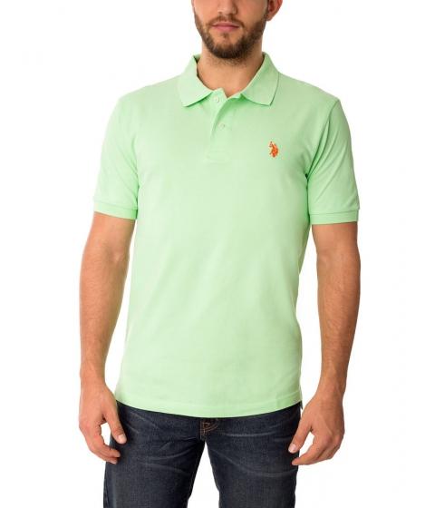Imbracaminte Barbati US Polo Assn Pique Mesh Small Logo Polo Shirt SUMMRGREENORNGSUNST