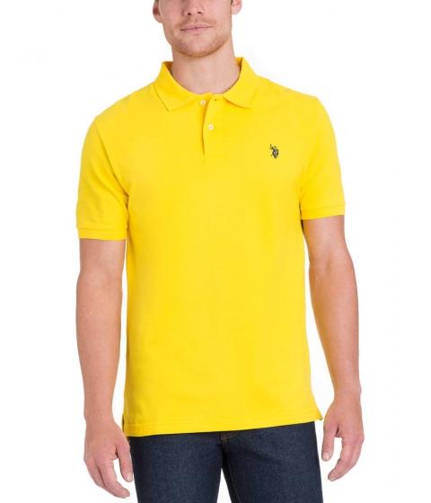 Imbracaminte Barbati US Polo Assn Pique Mesh Small Logo Polo Shirt SAILING YELLOW