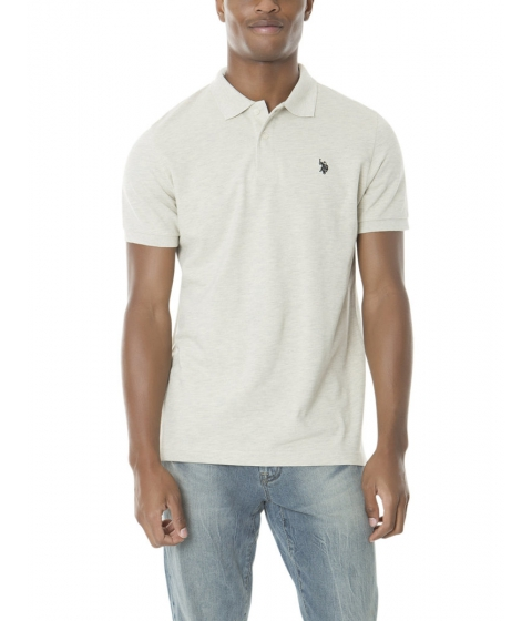 Imbracaminte Barbati US Polo Assn Pique Mesh Small Logo Polo Shirt OATMLHTCAMFIRECOAL