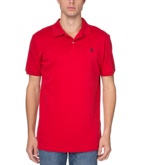 Imbracaminte Barbati US Polo Assn Interlock Polo Shirt Engine Red