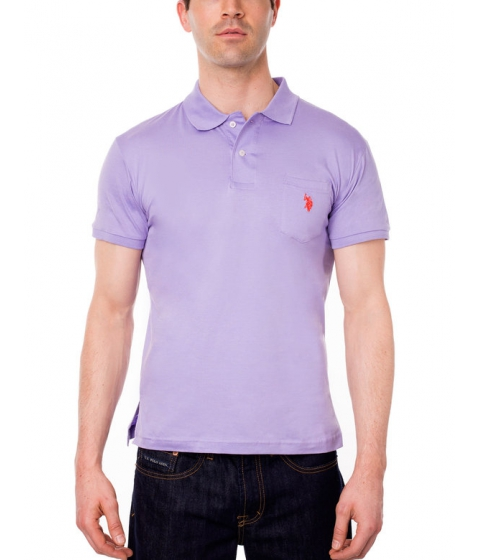 Imbracaminte Barbati US Polo Assn Slim Fit Pocket Polo Shirt Purple Sky