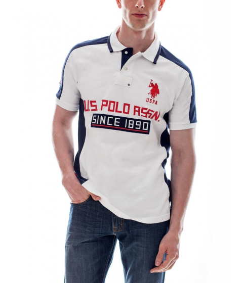 Imbracaminte Barbati US Polo Assn Big Logo Color Block Polo Shirt White